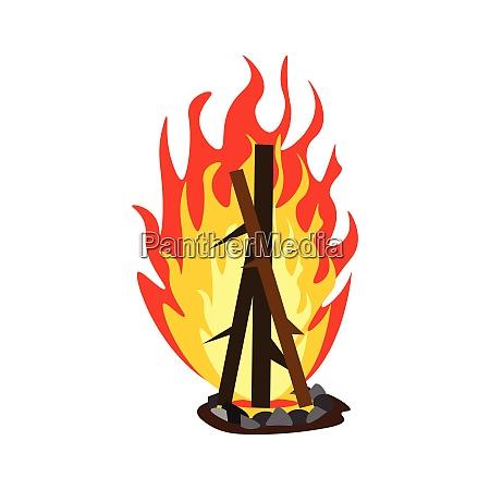 a big bonfire vector or color