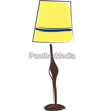 floor lamp vector or color illustration