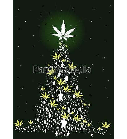 hemp spangled christmas tree
