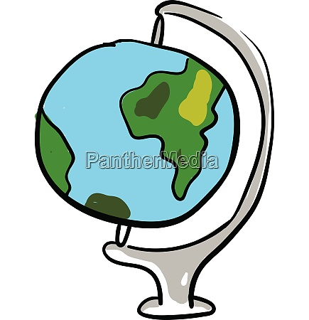 globe stand illustration vector or color