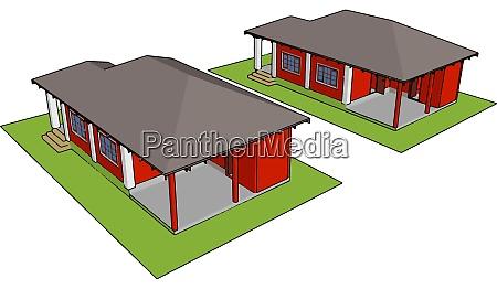 prefabricated, house, , illustration, , vector, on, white - 27510274
