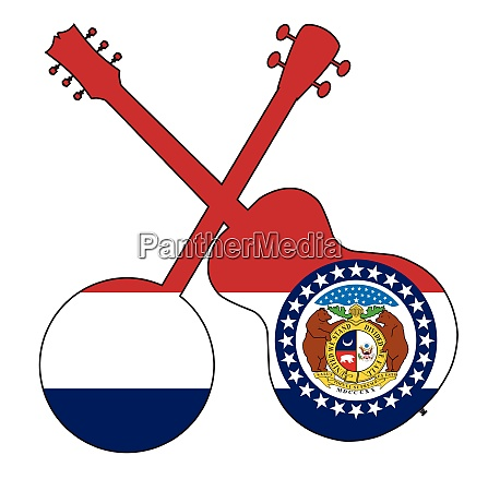 missouri state flag banjo and guitar