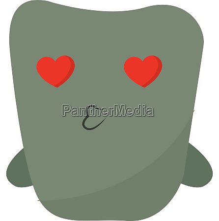monster in love vector or color