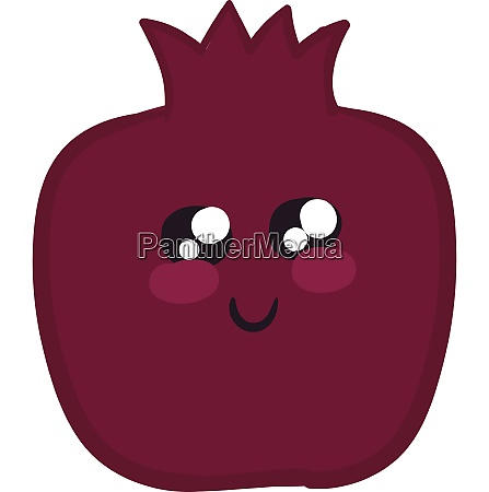 image of cute pomegranate vector or