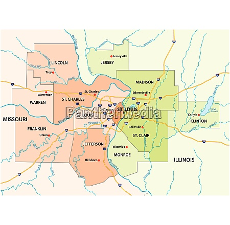 map of the greater st louis