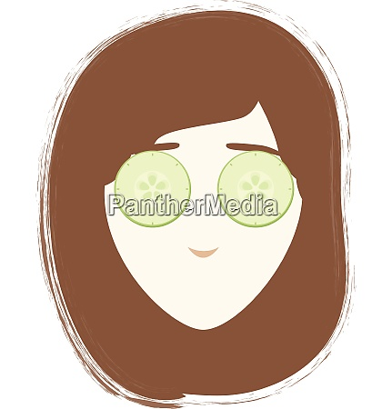 girl with mask vector or color