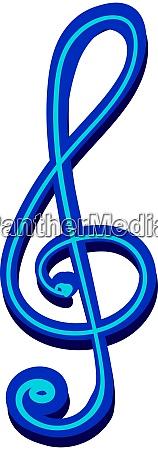 blue music note illustration vector on