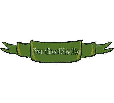 green ribbon vector or color illustration