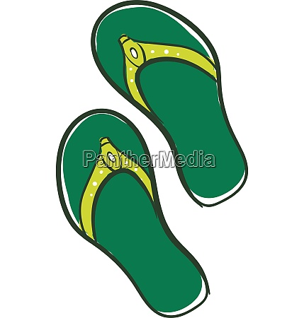 green slippers vector or color illustration