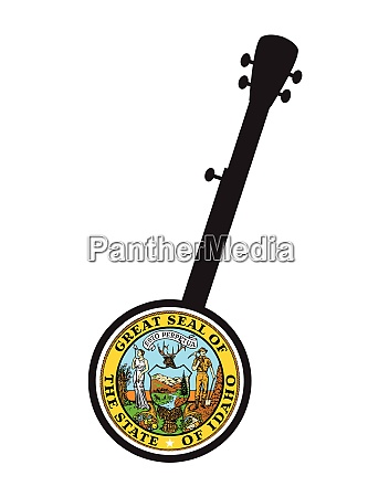 traditional, 5, string, banjo, silhouette, with - 27511021