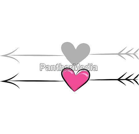 heart with arrow vector or color