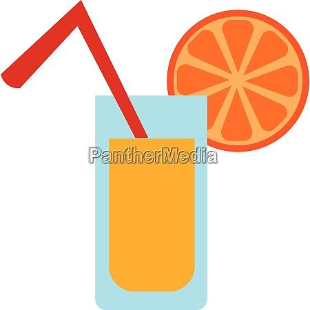 an orange juice glass vector or