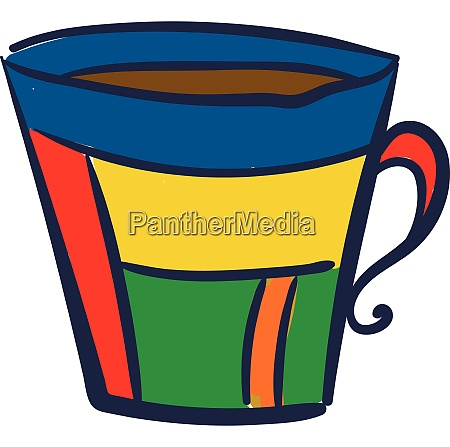 a multi color cup vector or