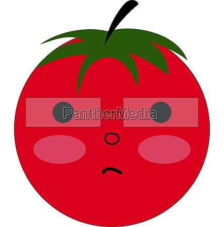 nerd tomato vector or color illustration