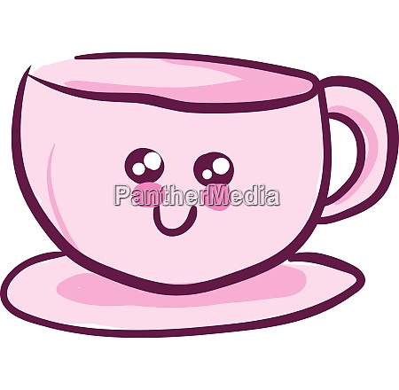 pink cute cup vector or color