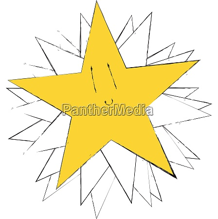 rising star vector or color illustration