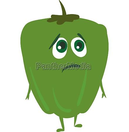 sad pepper vector or color illustration