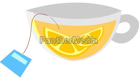 lemon tea illustration vector on white