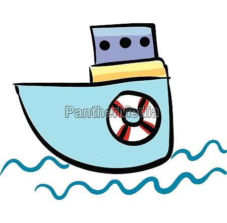 small boat vector or color illustration