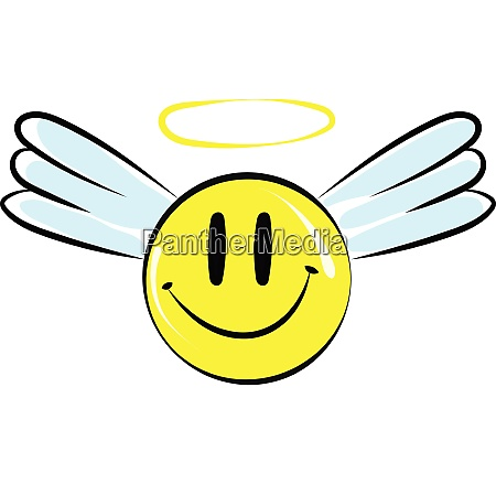 smile with a halo vector or