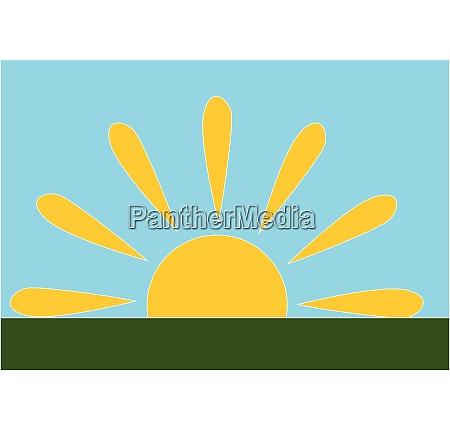 sun vector or color illustration