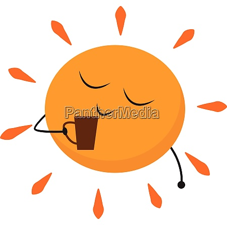 sun holding hands vector or color