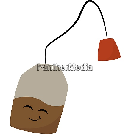 tea bag vector or color illustration