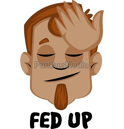 human emoji feeling fed up illustration