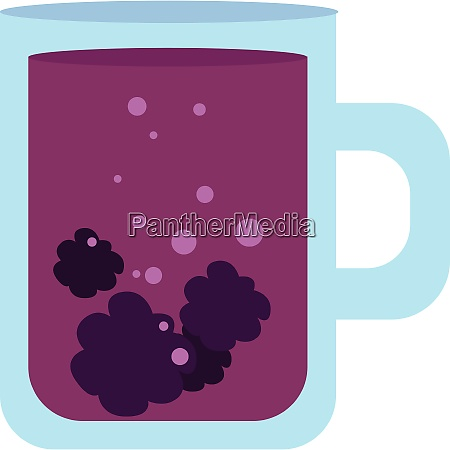 image of blackberry tea vector or