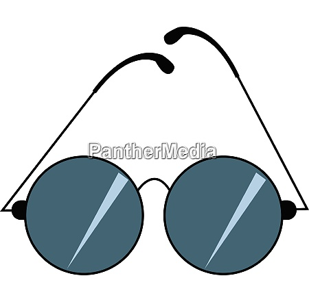 image of blue sunglass vector or