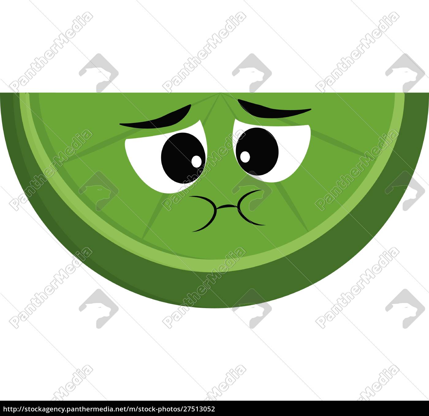 slice, of, lime, , vector, or, color - 27513052