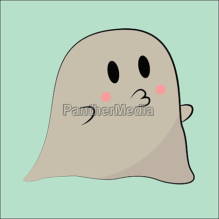 image of cute ghost vector or