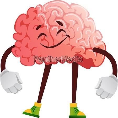 brain is satisfied illustration vector on