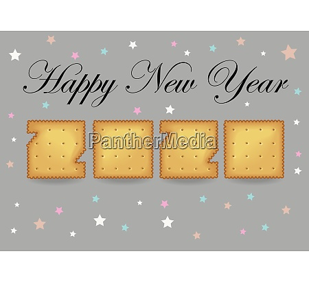happy new year 2020 cracker cookies