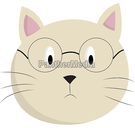 a cat with a glasses vector