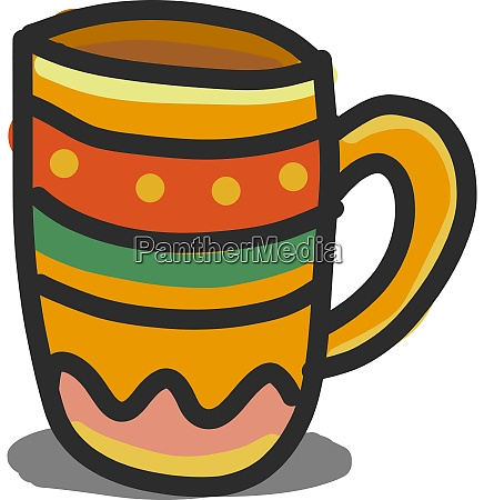 a colorful cup vector or color