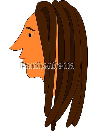 a dreadlocks hair vector or color