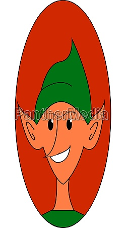 a happy elf vector or color