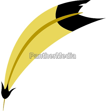 a yellow feather vector or color