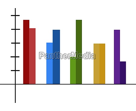 a colorful chart vector or color