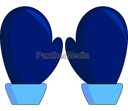 a blue mittens vector or color
