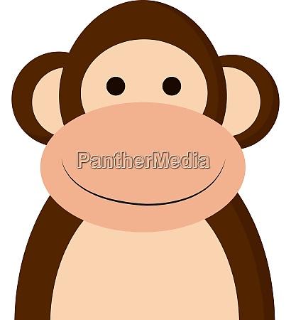 a happy monkey vector or color