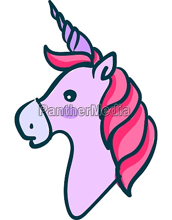 a pink unicorn vector or color
