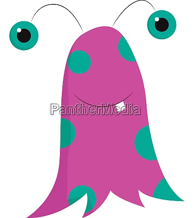 monster in pink and blue color