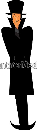 man with coat vector or color