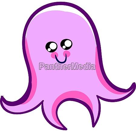 cute happy octopus illustration vector on