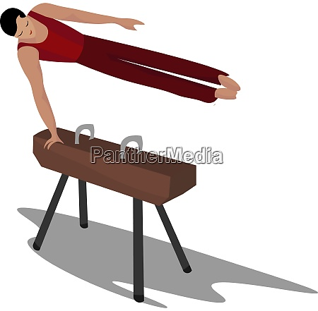 gymnastic practicing illustration vector on white