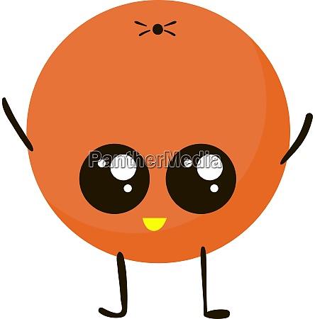 happy orange illustration vector on white