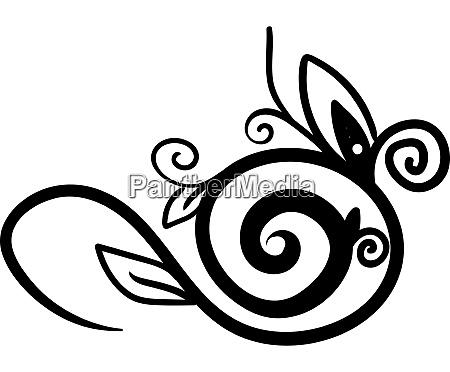 decorative flower sketch illustration vector on
