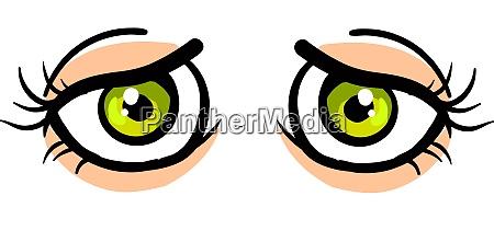 sad looking eyes illustration vector on